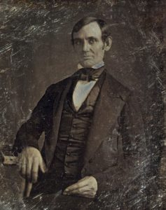 Photo Credit: Attributed to Nicholas H. Shepherd, based on the recollections of Gibson W. Harris, a law student in Lincoln's office from 1845 to 1847. - Library of Congress, Public Domain, https://commons.wikimedia.org/w/index.php?curid=25071089